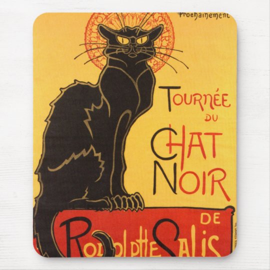 Steinlen: Chat Noir Mouse Pad