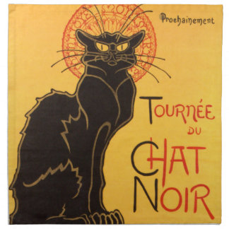 Steinlen: Chat Noir Napkin