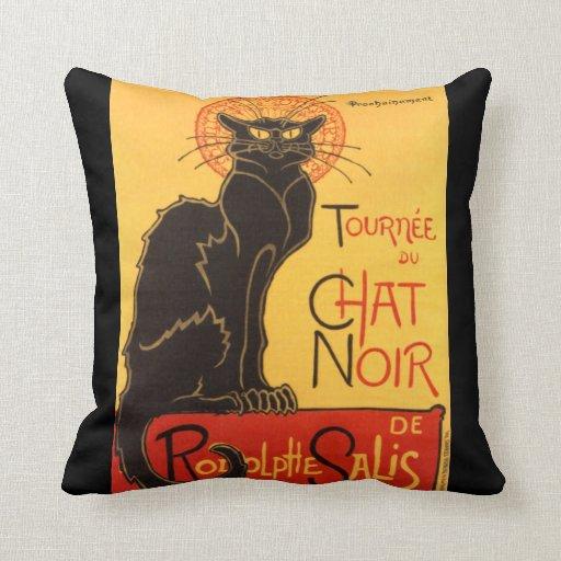 Steinlen: Chat Noir Throw Pillows
