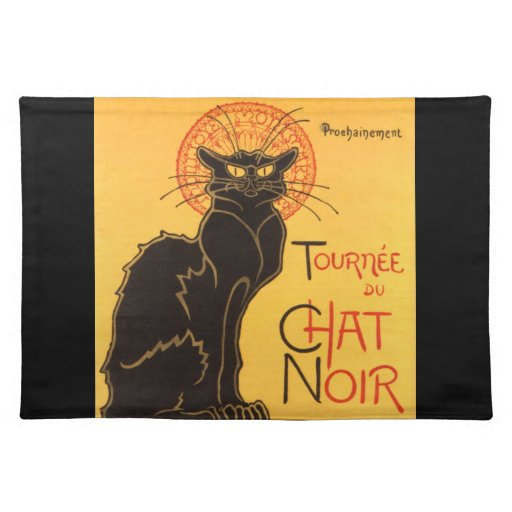 Steinlen: Chat Noir Placemat