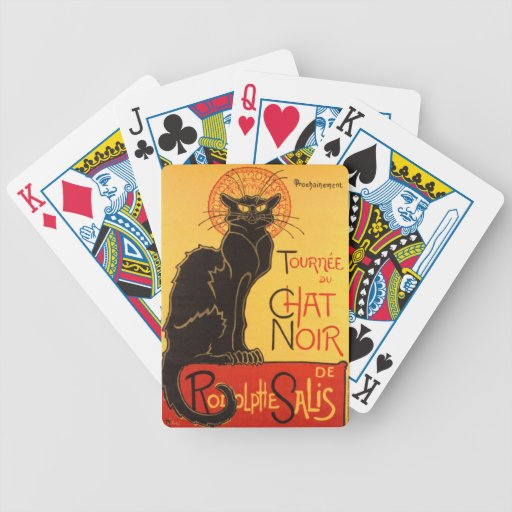 Steinlen: Chat Noir Bicycle Card Deck
