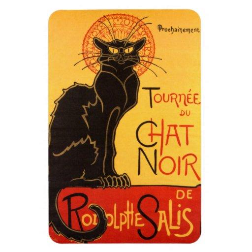 Steinlen: Chat Noir Rectangle Magnet
