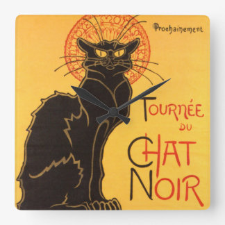 Steinlen: Chat Noir Square Wall Clock