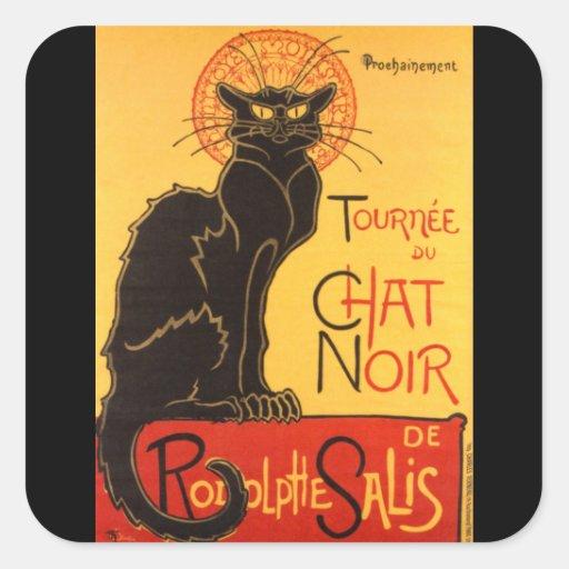 Steinlen: Chat Noir Square Stickers
