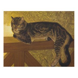 Steinlen Summer Cat on Balustrade Panel Wall Art
