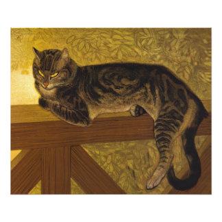 Steinlen Summer Cat on Balustrade Photo Print