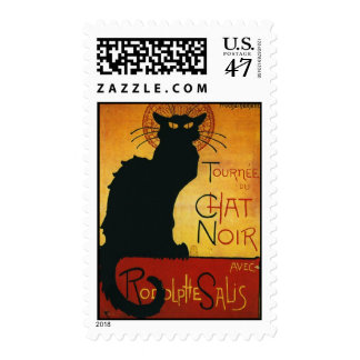 Steinlen's Chat Noir - Black Cat Postage