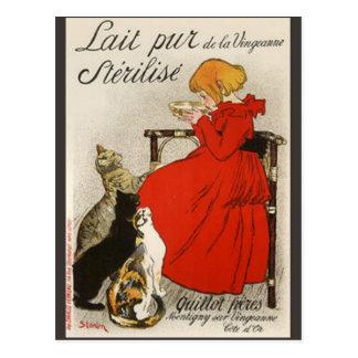Steinlen's Lait pur Stérilisé Postcard
