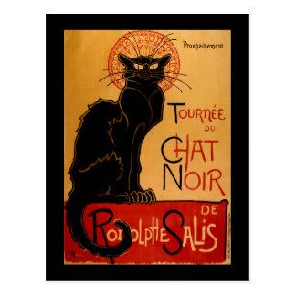 Steinlen's Le Chat Noir Postcard