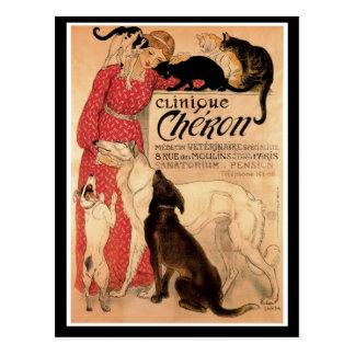 Steinlen's Vintage Clinique Chéron Postcard