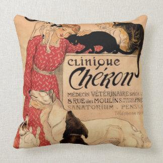 Steinlen's Vintage Clinique Chéron Throw Pillow
