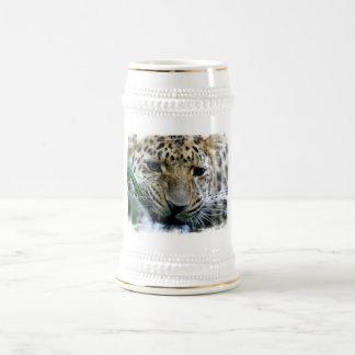 Steins de la cerveza del leopardo de Amur Tazas