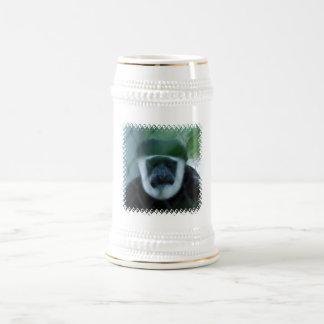 Steins de la cerveza del mono de Colobus Jarra De Cerveza