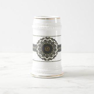 Steins de plata de la mandala jarra de cerveza
