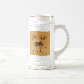 Steins, Frosted Cups - Carousel Reindeer or Elk