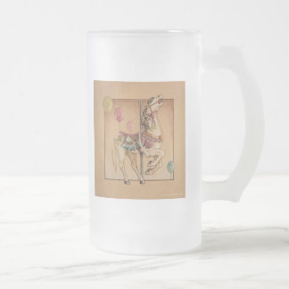 Steins, Frosted Mugs - Happy Horse Carousel