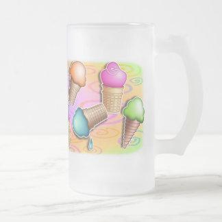 Steins tazas heladas - conos de helado del arte p