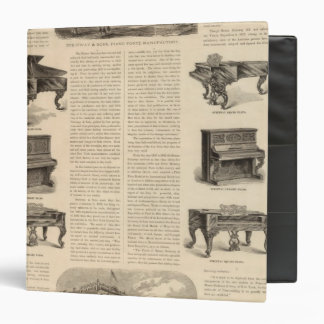 Steinway and Sons, Piano Manufacutrers 3 Ring Binder