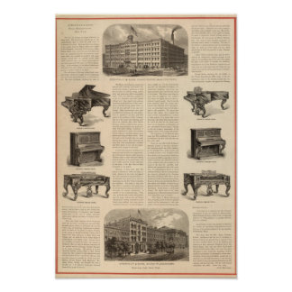 Steinway and Sons, Piano Manufacutrers Print