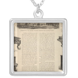 Steinway and Sons, Piano Manufacutrers Silver Plated Necklace
