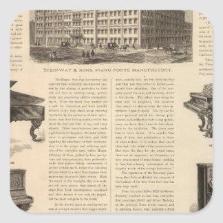 Steinway and Sons, Piano Manufacutrers Square Sticker