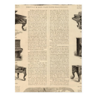 Steinway e hijos, piano Manufacutrers Postales
