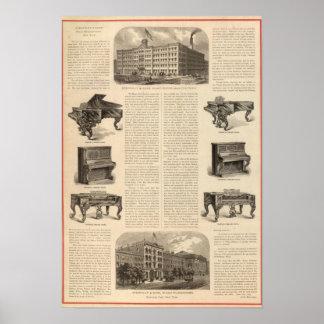 Steinway e hijos, piano Manufacutrers Posters