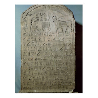 Stela commemorating the burial of the Apis Postcard