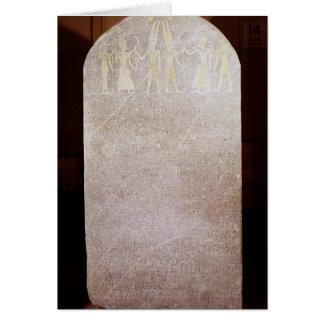 Stela de la victoria de Merenptah conocido como Tarjetas