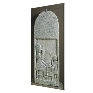 Stela de Si'gabbor, sacerdote de dios de la luna Impresion De Lienzo