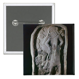 Stela depicting a ball player, from Guatemala Pinback Button