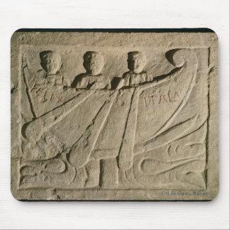 Stela depicting a rowing boat 'Felix Itala' Mouse Pad