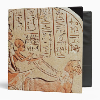 Stela depicting a scribe driving a chariot 3 ring binder