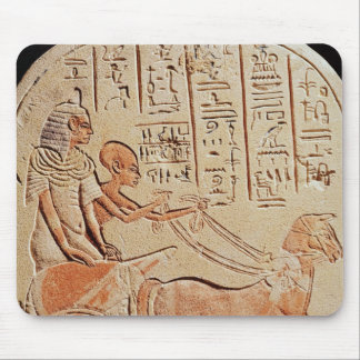 Stela depicting a scribe driving a chariot mouse pad