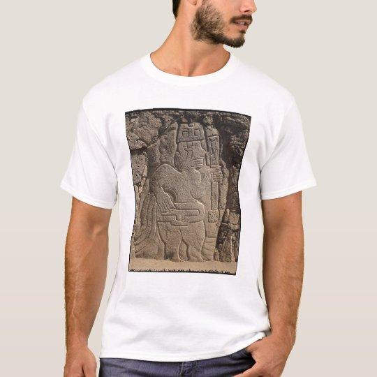 Stela depicting a warrior holding a club T-Shirt