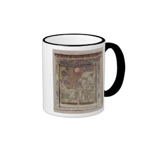 Stela depicting Aten giving life and Mugs