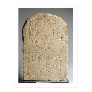Stela depicting Ramesses II offering incense to hi Postcard