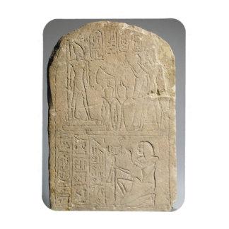 Stela depicting Ramesses II offering incense to hi Rectangular Photo Magnet