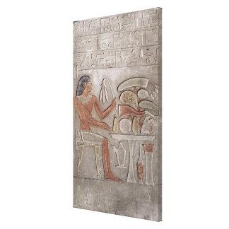 Stela depicting the deceased canvas print