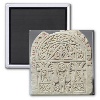 Stela funerario con una paloma o un águila, 8vo-9n iman para frigorífico