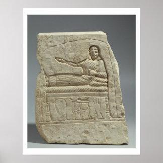 Stela funerario en nombre de la señora Artemis, fr Póster