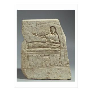 Stela funerario en nombre de la señora Artemis fr Tarjeta Postal
