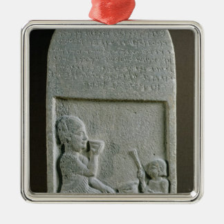 Stela of Si'gabbor, priest of the moon god Metal Ornament