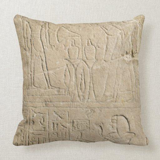 Stela que representa el incienso de ofrecimiento cojín decorativo