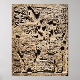 Stela que representa un alto sacerdote y a una muj impresiones