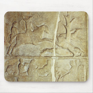 Stela relief depicting a wild boar hunt mouse pad