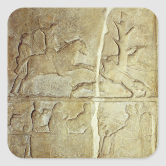Stela relief depicting a wild boar hunt sticker