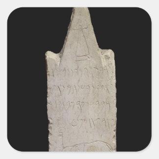Stela votivo con un elefante, de Cartago Colcomanias Cuadradass