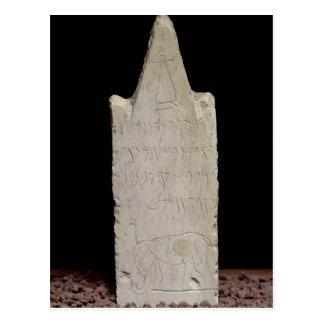 Stela votivo con un elefante, de Cartago Tarjeta Postal