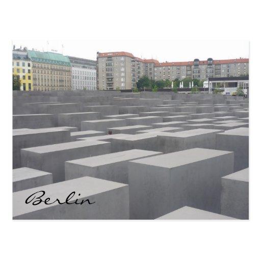 stelae del monumento del holocausto tarjeta postal